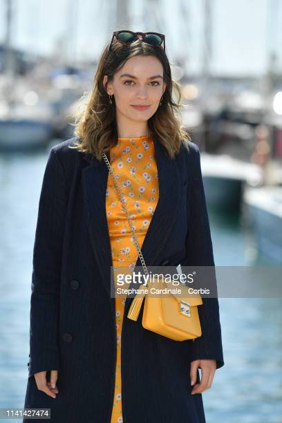 FrenchBritish actress Emma Mackey jury member of the Cannes Series poses during the 2nd Canneseries International Series Festival Day Five on April...