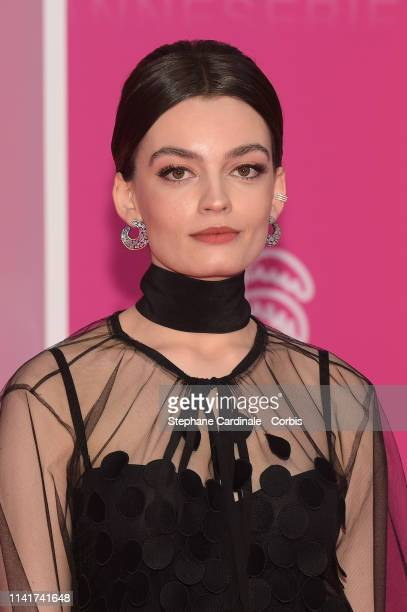 French-British actress Emma Mackey, jury member of the Cannes Series poses on the pink carpet prior the closing ceremony of the 2nd Canneseries -...