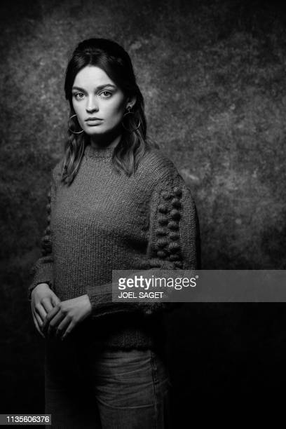 French-British actress Emma Mackey poses for a photo session during the 2nd edition of the Cannes International Series Festival in Cannes, southern...