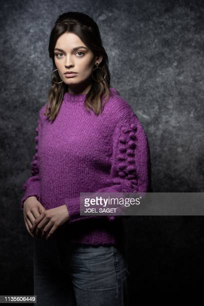 FrenchBritish actress Emma Mackey poses for a photo session during the 2nd edition of the Cannes International Series Festival in Cannes southern...