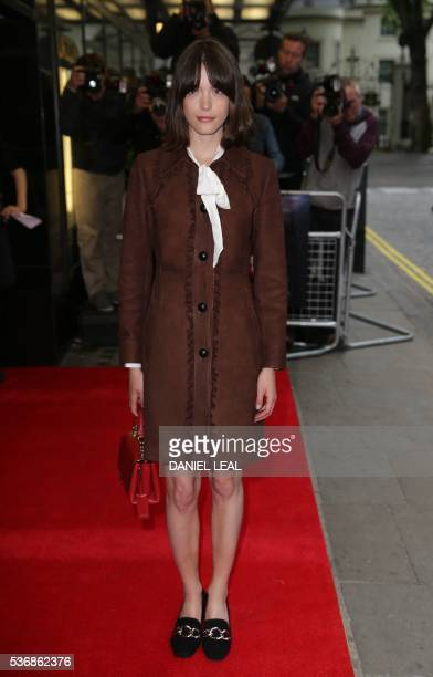 FrenchBritish actress Stacy Martin poses upon arrival to attend the UK premiere of the film Tales of Tales in central London on June 1 2016 / AFP /...