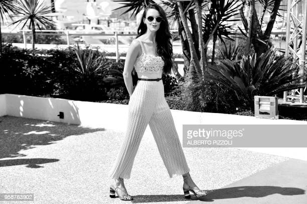 FrenchCanadian actress and director Charlotte Le Bon arrives on May 15 2018 for a photocall for the 'Talents Adami 2018' at the 71st edition of the...