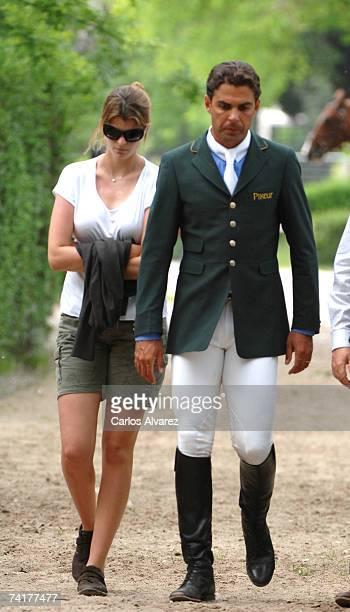 FrenchGreek Athina Onassis supports her Brazilian husband Alvaro Alfonso de Miranda Neto known as Doda Miranda who is competing in the 97th...