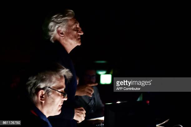 """French-Greek director Yannis Kokkos attends, on October 10, 2017 at the """"national lyric scene"""" in Athens, the rehearsal of Richard Strauss's Elektra,..."""