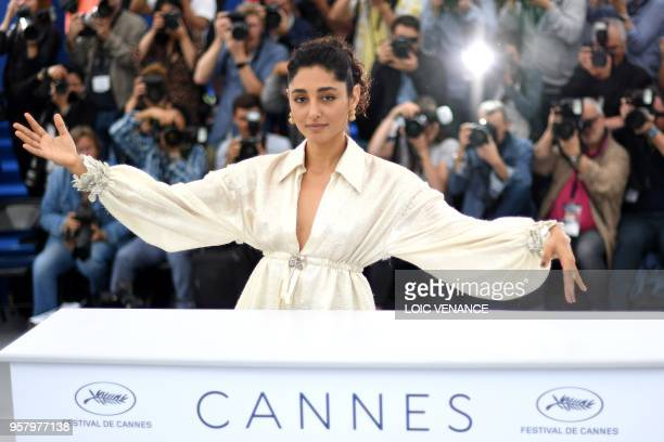 TOPSHOT FrenchIranian actress Golshifteh Farahani poses on May 13 2018 during a photocall for the film 'Girls of The Sun ' at the 71st edition of the...