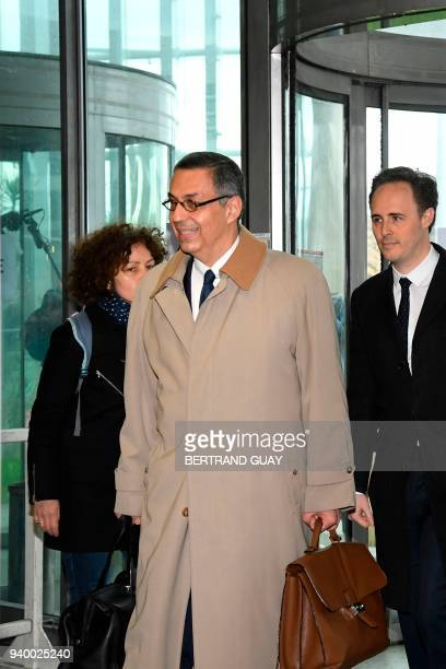 FrenchIranian lawyer for Laeticia Hallyday the widow of late French singer Johnny Hallyday Ardavan AmirAslani arrives at the courthouse in Nanterre...