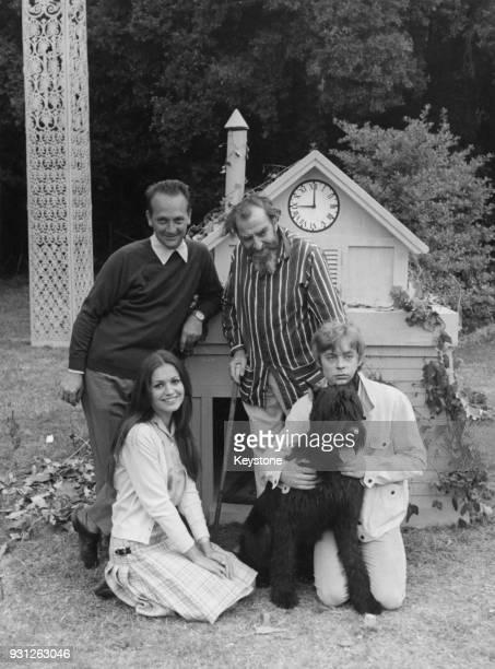 French-Italian actress Catherine Spaak and Welsh actor Hywel Bennett and Hugh Griffith , stars of the film 'Il marito è mio e l'ammazzo quando mi...