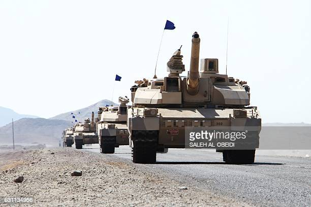 Frenchmade Leclerc tanks of the Saudiled coalition are deployed in the coastal district of Dhubab on January 7 during a military operation against...