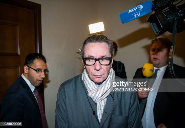 Frenchman JeanClaude Arnault arrives at the district court in Stockholm on September 19 where is to appear accused of rape and sexual assault...