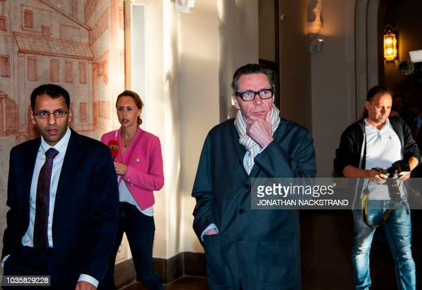 Frenchman JeanClaude Arnault arrives at the district court in Stockholm on September 19 where he is to appear accused of rape and sexual assault...