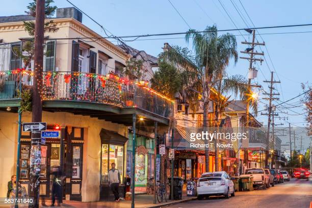frenchman street architecture - new orleans stock pictures, royalty-free photos & images