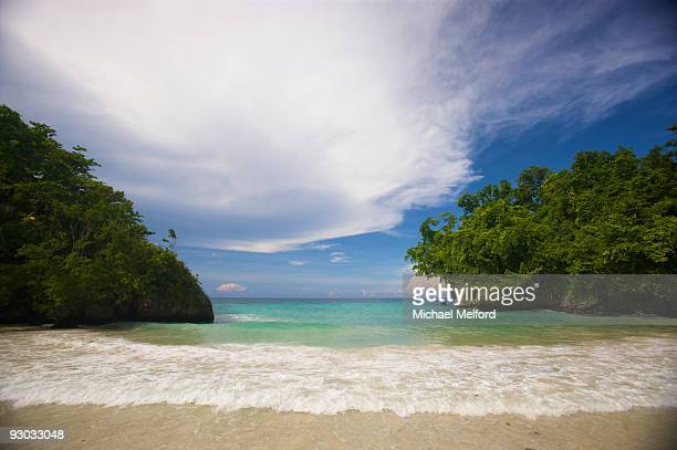 A secluded beach at Frenchman's Cove, Jamaica.
