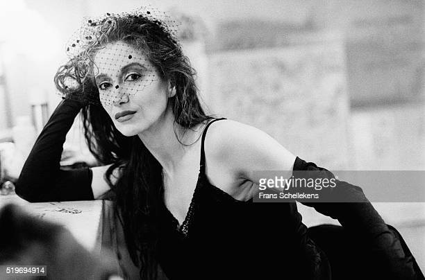 French-Moroccan singer Sapho, poses on June 28th 1991 at the Melkweg in Amsterdam, Netherlands. ,