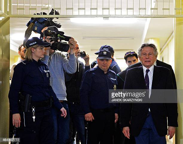 FrenchPolish film director Roman Polanski is pictured during a break in a hearing at the regional court in Krakow on February 25 2015 The court is to...
