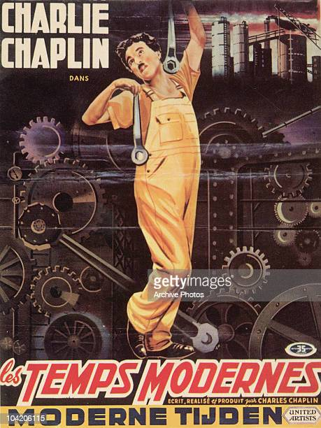 A Frenchproduced postcard for Charlie Chaplin's film 'Modern Times' 1936