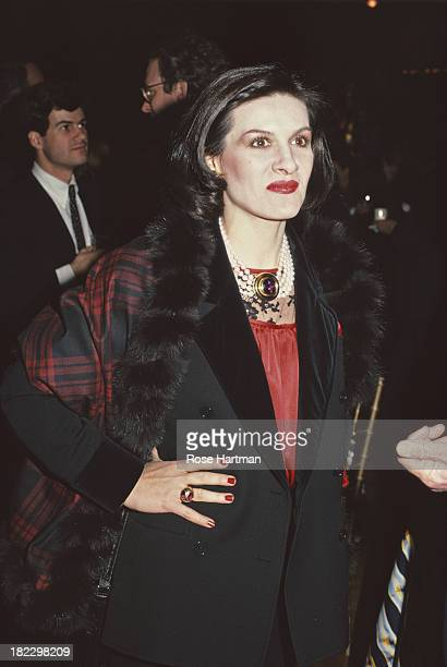 French/Spanish fashion designer and businesswoman Paloma Picasso attends an antique show in New York City circa 1993
