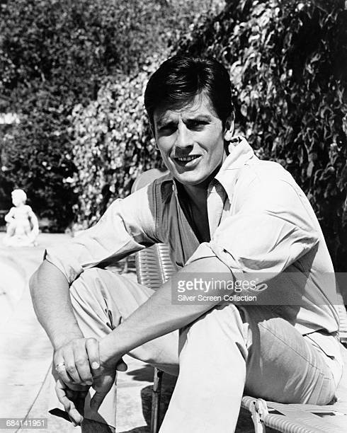 French-Swiss actor Alain Delon, circa 1960.