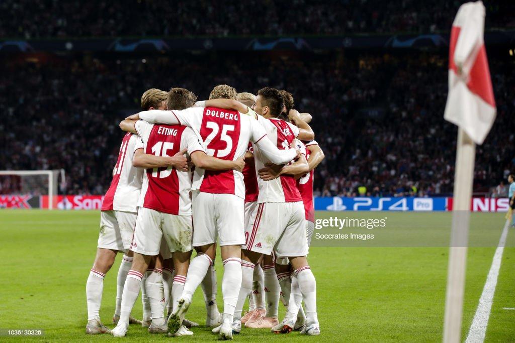 Ajax v AEK Athene - UEFA Champions League : News Photo