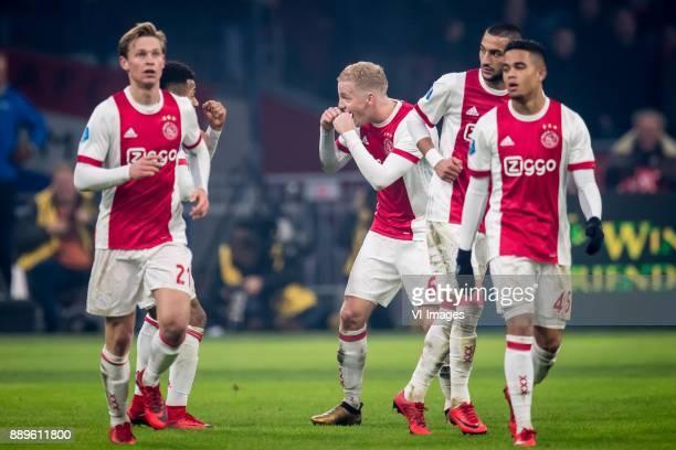 Frenkie de Jong of Ajax David Neres of Ajax Donny van de Beek of Ajax Hakim Ziyech of Ajax Justin Kluivert of Ajax 30 during the Dutch Eredivisie...