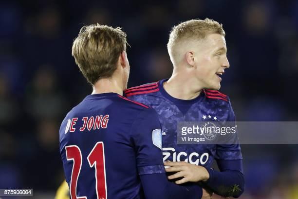 Frenkie de Jong of Ajax Donny van de Beek of Ajax during the Dutch Eredivisie match between NAC Breda and Ajax Amsterdam at the Rat Verlegh stadium...