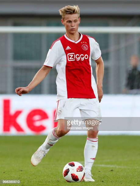 Frenkie de Jong of Ajax during the Club Friendly match between Ajax v Anderlecht at the Olympisch Stadion on July 13 2018 in Amsterdam Netherlands