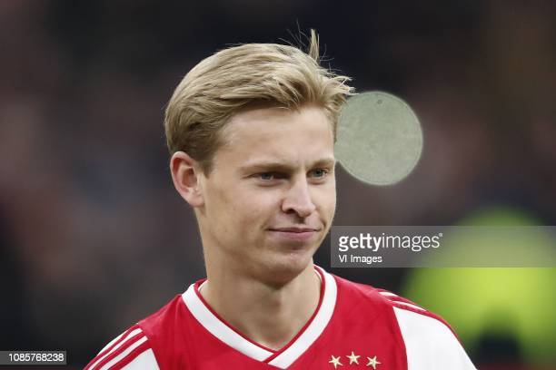 Frenkie de Jong of Ajax during the Dutch Eredivisie match between Ajax Amsterdam and sc Heerenveen at the Johan Cruijff Arena on January 20 2019 in...