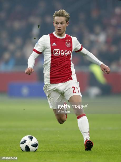 Frenkie de Jong of Ajax during the Dutch Eredivisie match between Ajax Amsterdam and PSV Eindhoven at the Amsterdam Arena on December 10 2017 in...