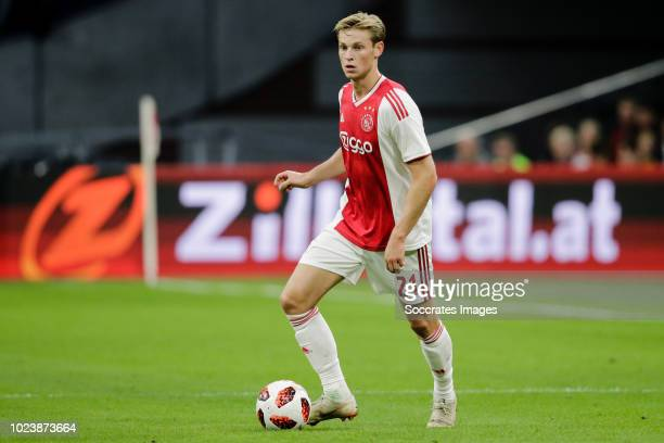 Frenkie de Jong of Ajax during the Dutch Eredivisie match between Ajax v FC Emmen at the Johan Cruijff Arena on August 25 2018 in Amsterdam...