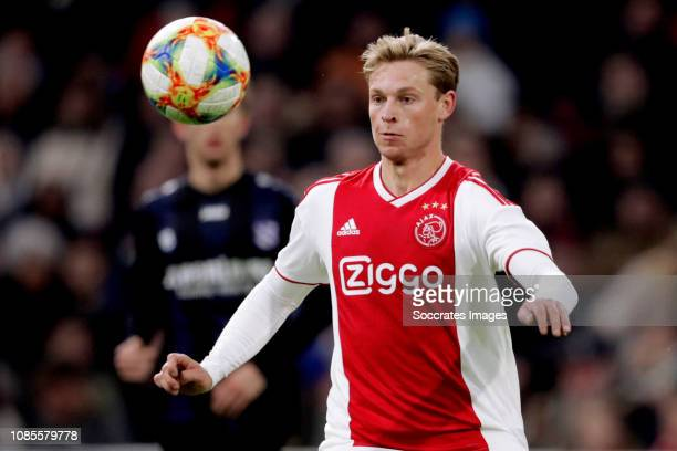 Frenkie de Jong of Ajax during the Dutch Eredivisie match between Ajax v SC Heerenveen at the Johan Cruijff Arena on January 20 2019 in Amsterdam...