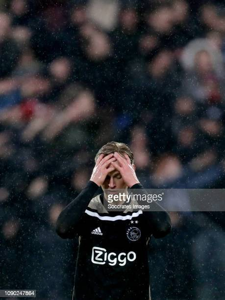Frenkie de Jong of Ajax during the Dutch Eredivisie match between Feyenoord v Ajax at the Stadium Feijenoord on January 27 2019 in Rotterdam...