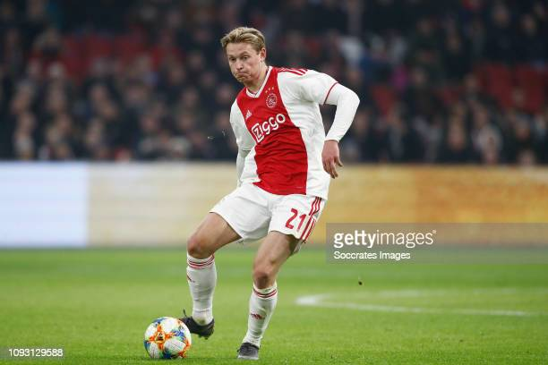 Frenkie de Jong of Ajax during the Dutch Eredivisie match between Ajax v VVVVenlo at the Johan Cruijff Arena on February 2 2019 in Amsterdam...