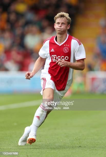 Frenkie de Jong of Ajax during the Pre Season Friendly between Wolverhampton Wanderers and Ajax at Banks' Stadium on July 19 2018 in Walsall England