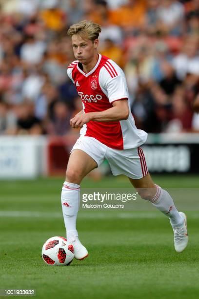 Frenkie de Jong of Ajax during the preseason friendly between Wolverhampton Wanderers and Ajax at Banks' Stadium on July 19 2018 in Walsall England