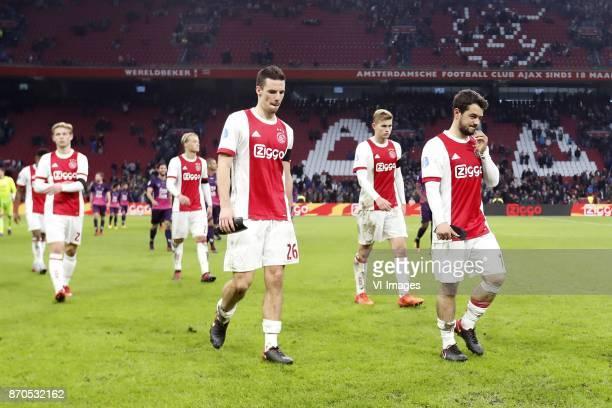 Frenkie de Jong of Ajax Kasper Dolberg of Ajax Nick Viergever of Ajax Matthijs de Ligt of Ajax Amin Younes of Ajax during the Dutch Eredivisie match...