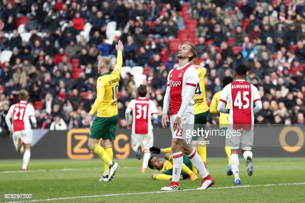 Frenkie de Jong of Ajax Lex Immers of ADO Den Haag Nico Tagliafico of Ajax Tyronne Ebuehi of ADO Den Haag Siem de Jong of Ajax Tom Beugelsdijk of ADO...