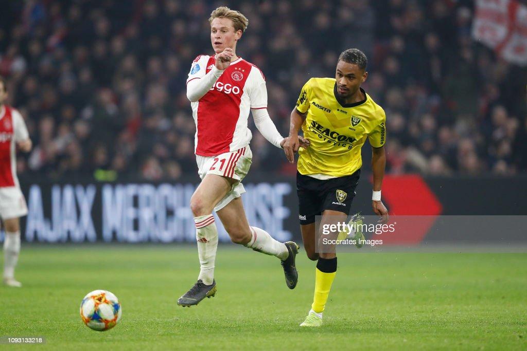 Frenkie de Jong of Ajax, Patrick Joosten of VVV Venlo ...