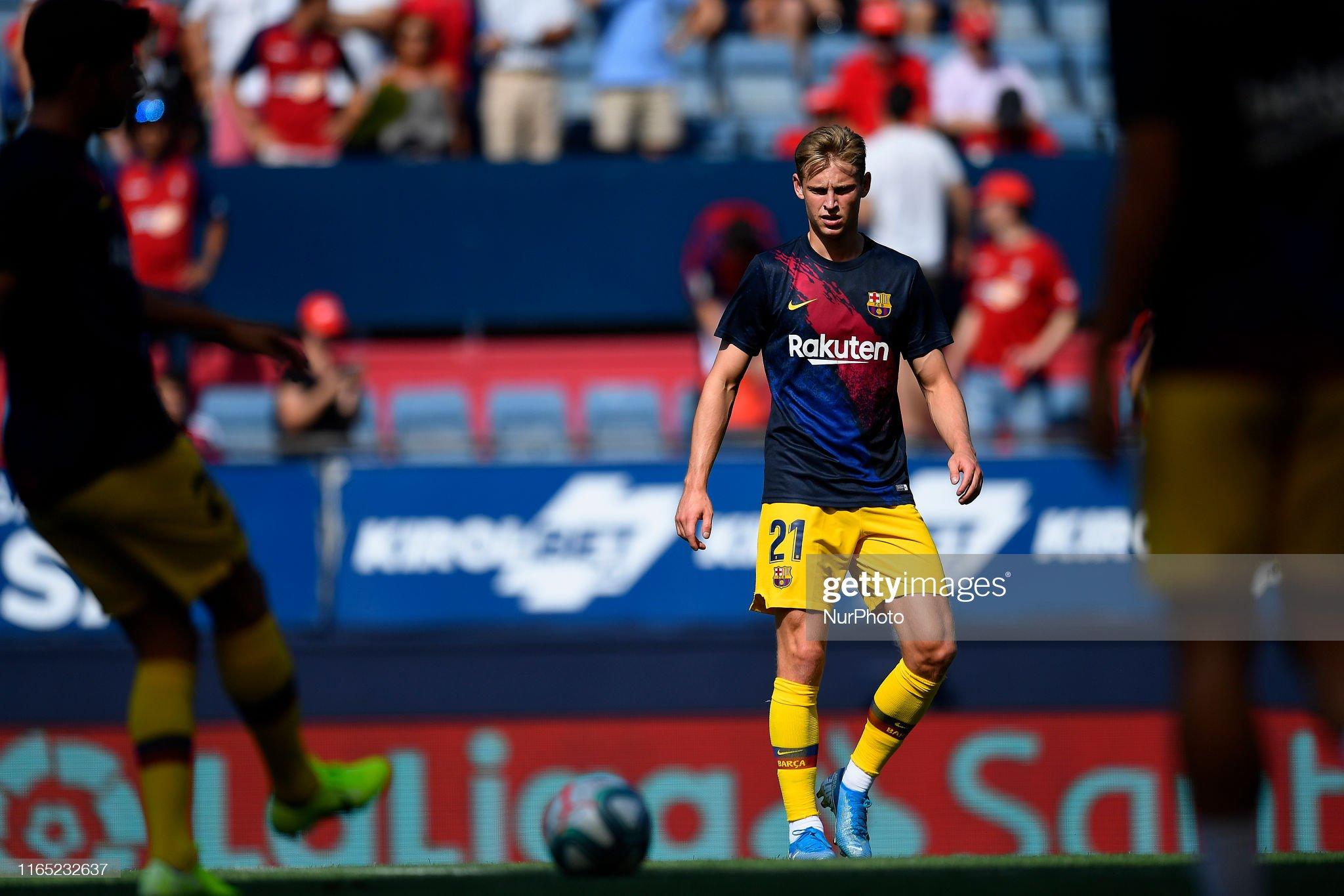 صور مباراة : أوساسونا - برشلونة 2-2 ( 31-08-2019 )  Frenkie-de-jong-of-barcelona-during-the-warmup-before-the-liga-match-picture-id1165232637?s=2048x2048