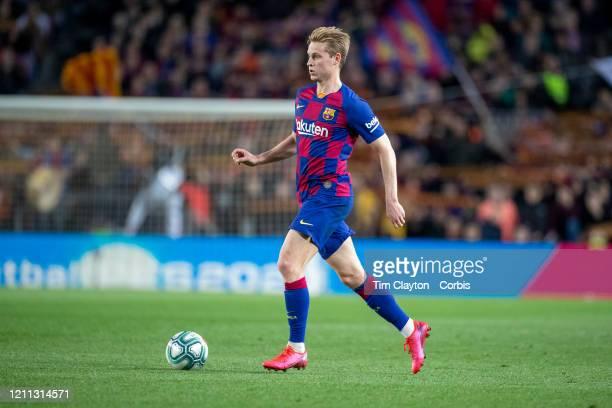Frenkie de Jong of Barcelona in action during the Barcelona V Real Sociedad La Liga regular season match at Estadio Camp Nou on March 7th 2020 in...