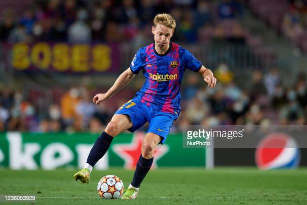 Frenkie de Jong of Barcelona in action during the UEFA Champions League group E match between FC Barcelona and Dinamo Kiev at Camp Nou on October 20,...