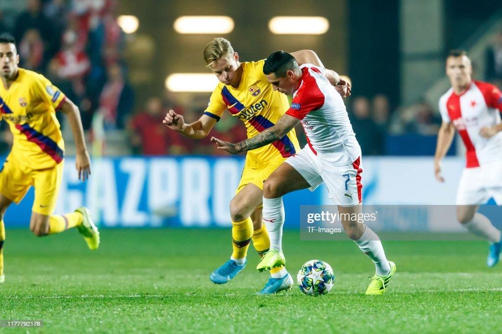 Slavia Praha v FC Barcelona: Group F - UEFA Champions League : News Photo