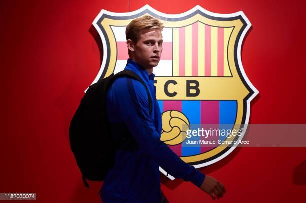 Frenkie de Jong of FC Barcelona arrives to the stadium during the Liga match between SD Eibar SAD and FC Barcelona at Ipurua Municipal Stadium on...