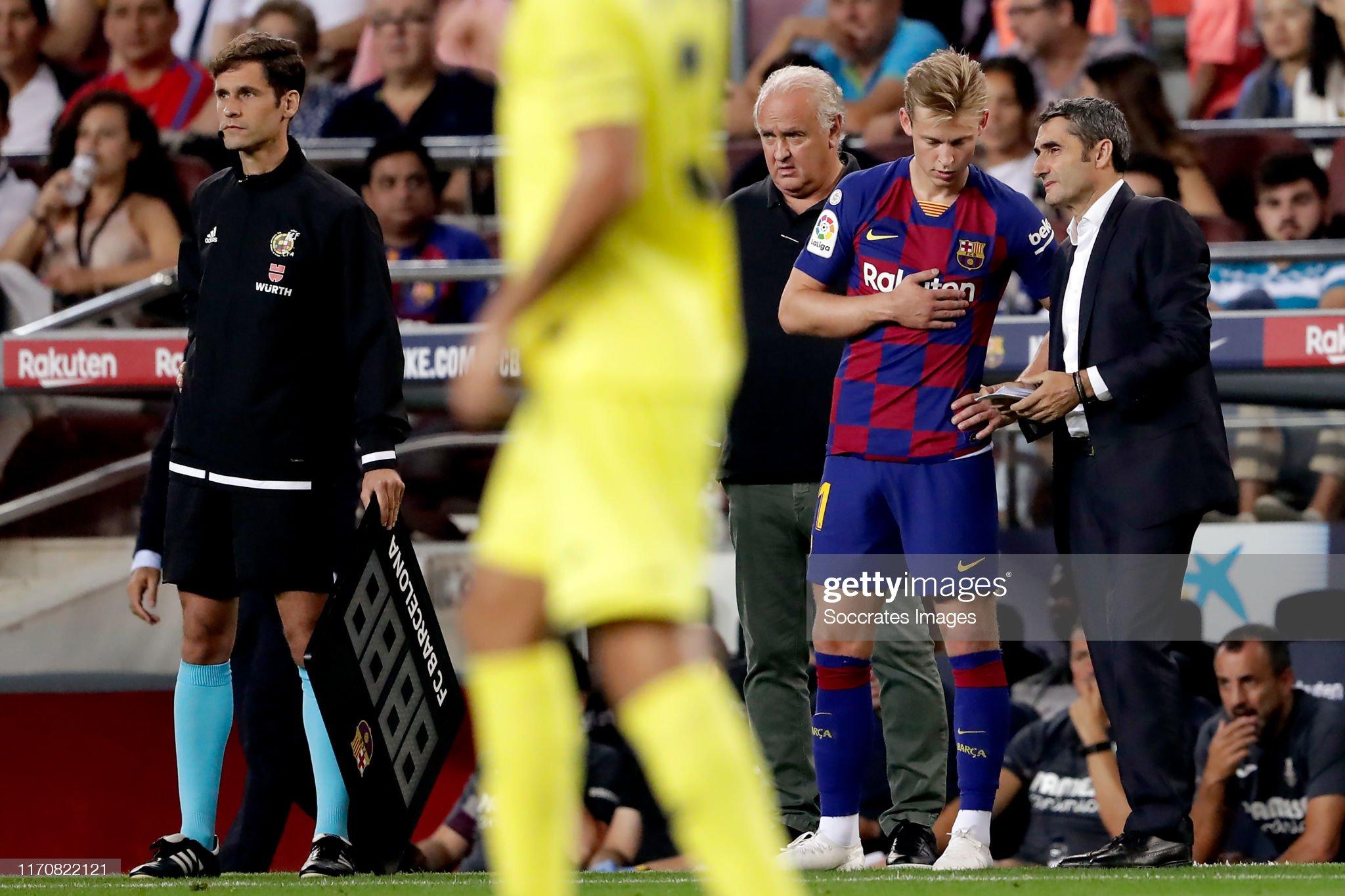 صور مباراة : برشلونة - فياريال 2-1 ( 24-09-2019 )  Frenkie-de-jong-of-fc-barcelona-coach-ernesto-valverde-of-fc-during-picture-id1170822121?s=2048x2048