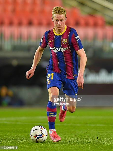 Frenkie de Jong of FC Barcelona during the La Liga match between Valencia CF and FC Barcelona played at Mestalla Stadium on May 2, 2021 in Valencia,...