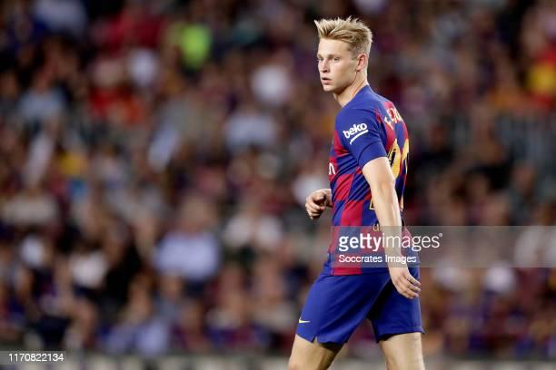 Frenkie de Jong of FC Barcelona during the La Liga Santander match between FC Barcelona v Villarreal at the Camp Nou on September 24, 2019 in...