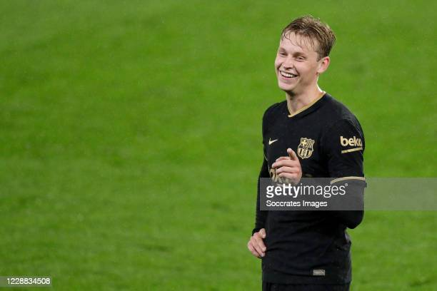 Frenkie de Jong of FC Barcelona during the La Liga Santander match between Celta de Vigo v FC Barcelona at the Estadio de Balaidos on October 1 2020...