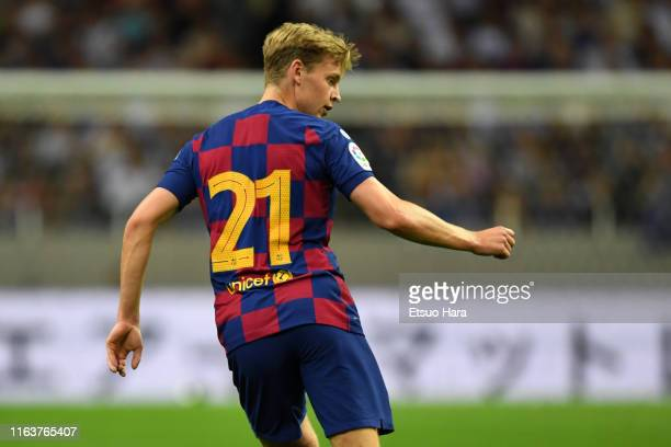 Frenkie de Jong of FC Barcelona in action during the preseason friendly match between Barcelona and Chelsea at the Saitama Stadium on July 23 2019 in...