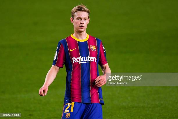 Frenkie de Jong of FC Barcelona looks on during the Copa del Rey Semi Final Second Leg match between FC Barcelona and Sevilla at Camp Nou on March...