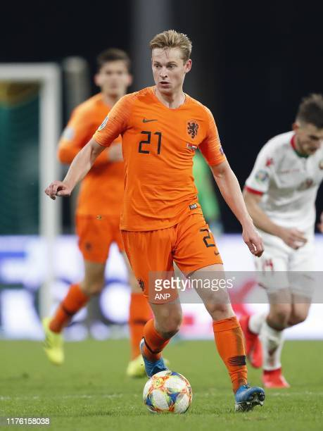 Frenkie de Jong of Holland during the UEFA EURO 2020 qualifier group C qualifying match between Belarus and The Netherlands at Dinamo stadium on...