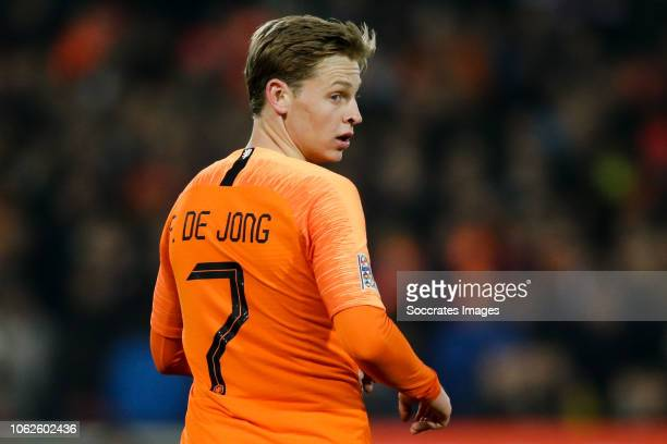 Frenkie de Jong of Holland during the UEFA Nations league match between Holland v France at the Feyenoord Stadium on November 16 2018 in Rotterdam...