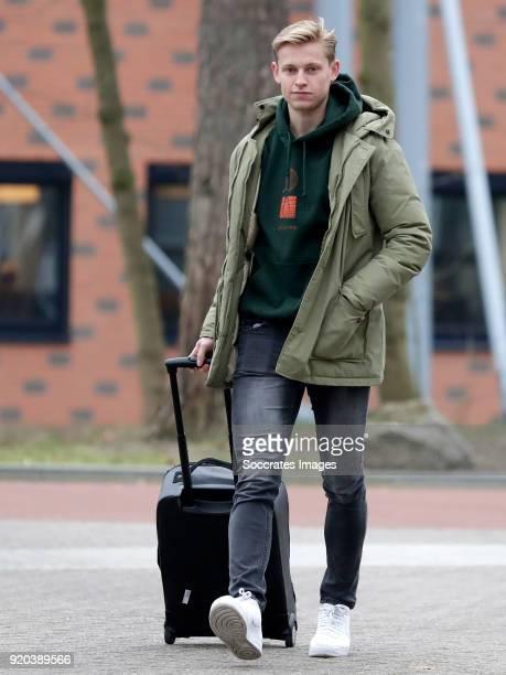 Frenkie de Jong of Holland U21 during the Arrival Holland U21 at the KNVB campus at the KNVB Campus on February 19 2018 in Zeist Netherlands